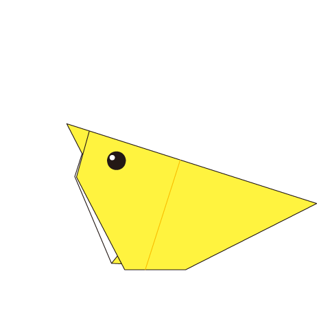 chick animal easy origami