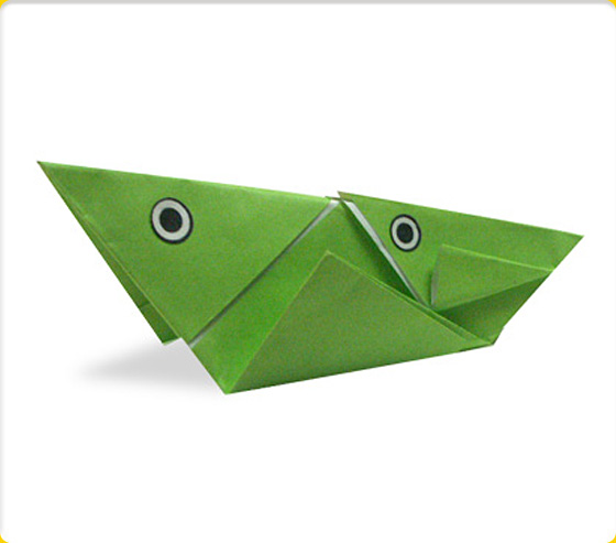 Set Of Green Origami Insects With A Grasshopper, Praying Mantis ... | 493x560